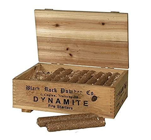 Firelighters - Sticks of Dynamite Design in a Decorative Wooden Box