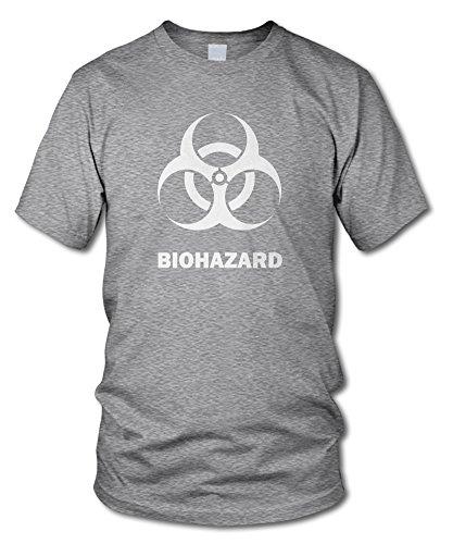 shirtloge - BIOHAZARD - Fun T-Shirt - in verschiedenen Farben - Größe S - XXL Grau-Meliert (Weiß)