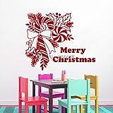yaoxingfu Feliz Navidad Tatuajes de Pared Dulces Decoración de Navidad Vinilo Etiqueta de La Pared Sala de Estar Decoración para El Hogar Murales46x56 cm