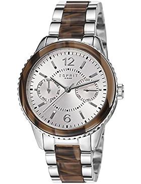 Esprit Damen-Armbanduhr Marin Tortoise Analog Quarz ES106742001