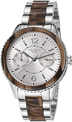 Esprit ES106742001 - Reloj analógico de cuarzo para mujer, correa de acero inoxidable color plateado
