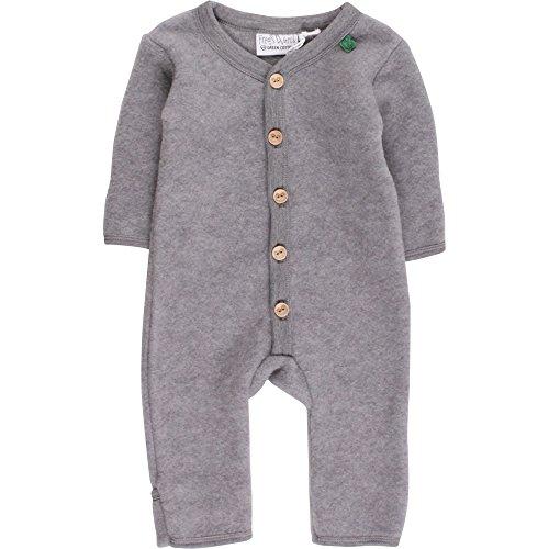 Fred's World by Green Cotton Baby-Jungen Anzug Wool Fleece Suit, Grau (Pale Greymarl 207670000), 68 (Herstellergröße: 68/74)
