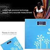 #9: MCP Tempered Glass Designer Digital Personal Weighing Scale With Step On Technology (BLUE)