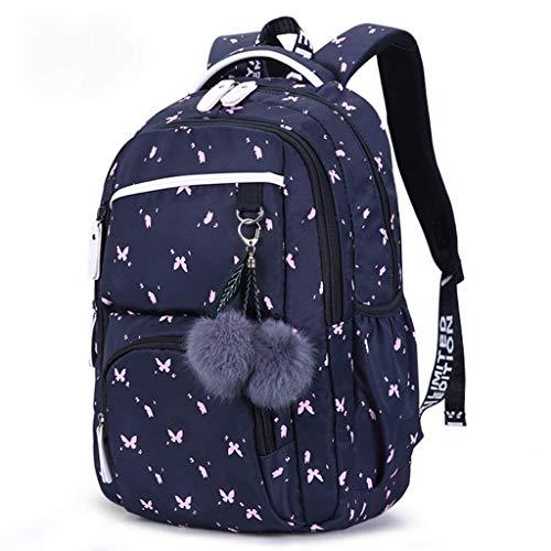 DX Schulrucksack Mädchen Schulrucksäcke Koreanischen Stil Kinder Schultaschen Große Kapazität Blumendruck Rucksack Tasche Für Mädchen Kinder -