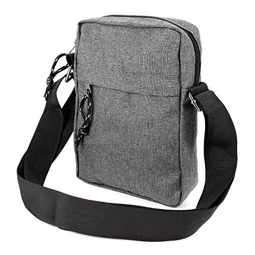 Anladia Herren Junge Umhängetasche Schulter Messenger Tasche Kuriertasche Rucksack Arbeit Uni dunkelgrau (Messenger Schulter Tasche Rucksack)