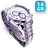 MONTRE CAMERA ESPION ARGENT FULL HD 1080P A VISION NOCTURNE 16 GO - YONIS