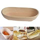 Bloomma Cestino del Pane, Fare canestro, Cestino Ovale del Pane del Rattan per Il Pane al Forno Che Produce Le pagnotte della pagnotta di Forma della Pasta