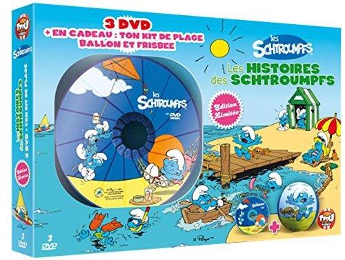 Les Schtroumpfs - Les histoires des Schtroumpfs - Coffret 3 DVD + Kit de plage (ballon et frisbee)