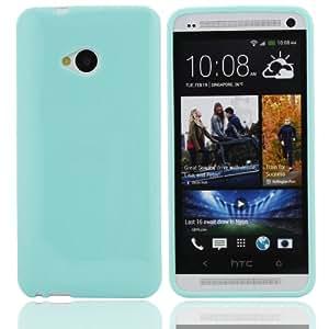 Bestwe TPU Skin Case HTC One/ M7 Silikon Tasche Hülle - Silicon Protector Schutzhülle mintgrün
