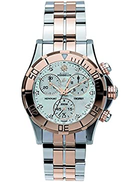 Michel Herbelin Newport Trophy Grand Sport Damen Chronograph silber/rosé 34591/18B