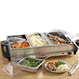 Cooks Professional 4 Section Buffet Warmer Hotplate BBQ Christmas Hostess Warming Tray each