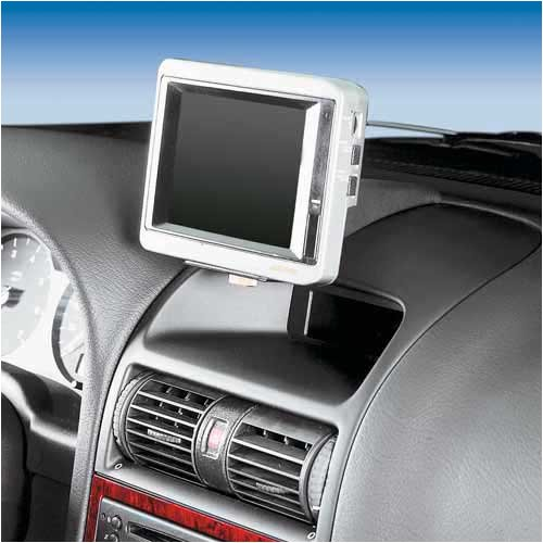 KUDA Navigations Konsole passend für Navi Opel Astra G ab 3/98/Coupe ab 3/00 Mobilia / Kunstleder schwarz