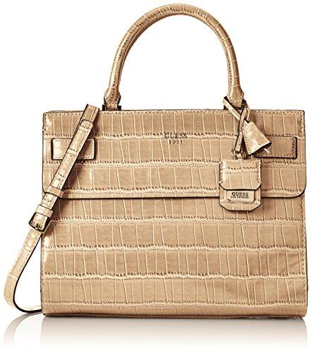 Guess Damen Cate Satchel Handtaschen, Grün (Nut), One Size (Satchel Guess-handtaschen-top-zip)