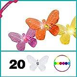 Solar Lichterkette Schmetterling Butterfly in wechselnden Farben Farbverlauf mit 20 LED