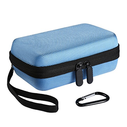 Hard EVA Nylon Shockproof Travel Case Travel Bag for HP Sprocket Portable Photo Printer (Sky Blue) Test
