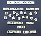 Pick and Mix Ivory Scrabble tiles - Choose your own Letters (Pack of 400)