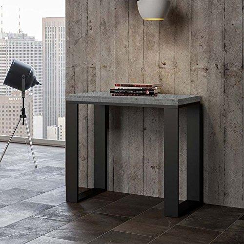 Group design consolle libra in legno cemento l.90 h.80 p.45 (aperto l.90 h.78 p.90)