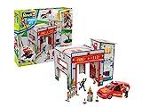 Revell Junior Kit Playset caserne de Pompier, 850, Rouge