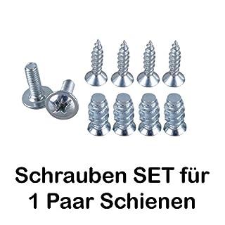 SCHRAUBEN-SET für 2 Schienen / 2x M4 / 4 x Euro-Schrauben/4 Holzschrauben