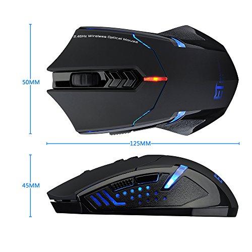 Pictek ratón inalámbrico juegos para gaming