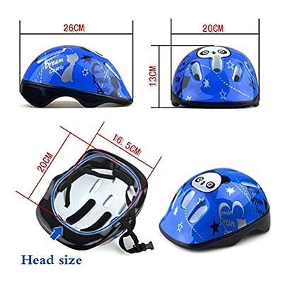 Acewen 1Piece Panda Safety Helmet Adjustable Headband & Vented Design Kids Bike Bicycle Head Helmets for Skating Board Girls Boys Protective Gear(Suitable Kids aged 3-10),Blue by Dazzling storeloller