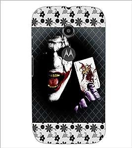 PrintDhaba Joker D-5102 Back Case Cover for MOTOROLA MOTO E2 (Multi-Coloured)