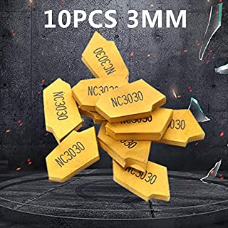 10pcs Hartmetall Einsatzschneider Drehmaschine Wendeschneidplatte Hartmetall Wendeschneidplatte