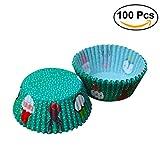 ULTNICE 100pcs Weihnachtskuchen-Muffin-Zwischenlagen-Verpackungs-Backen-Schalen-Muffin-Behälter