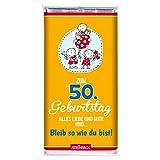 Schokolade GEBURTSTAG STEINBECK Vollmilch 100g Schokolade Tafel'Zum 50. Geburtstag -Alles Liebe und Gute und. Bleib so wie du bist' Geschenk Party Mitgebsel Herzlichen Glückwunsch Mann Frau