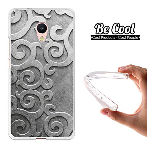 Becool® - Custodia Gel TPU Meizu M5s, Cover TPU prodotto col miglior silicone, protegge e si adatta alla perfezione al tuo Smartphone e oltrettutto ha il nostro disegno esclusivo. Filigrana metallica.