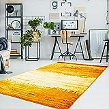 carpet city Teppich Flachflor Moda mit Modernen Design, Meliert, Gestreift, Abstrakt in Orange, Gelb, Rot, Weiß Größe 80/150 cm