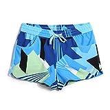 Tofern Femme Boardshort Short de Bain 100% Polyester Séchage Rapide Imperméable Sport Loisir Plage Running Surf Bleu/Orange/Rouge/Orange&Bleu/Rouge&Bleu