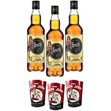 SAILOR JERRY SPICED CARIBBEAN RUM 80 PROOF 70CL 3 BOTTIGLIE 3 CAN CUPS