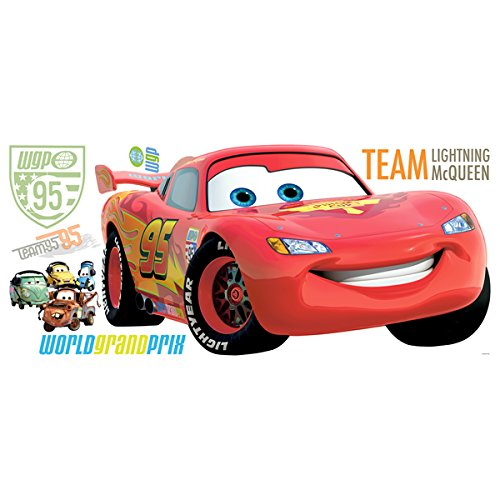 Image of RoomMates Disney Cars 2 Giant Lightning McQueen Wall Sticker