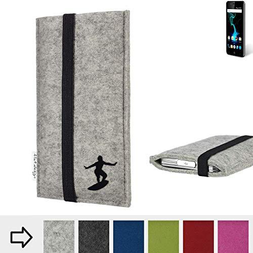 flat.design Handy Hülle Coimbra für Allview P6 Pro individualisierbare Handytasche Filz Tasche fair Surfer Urlaub