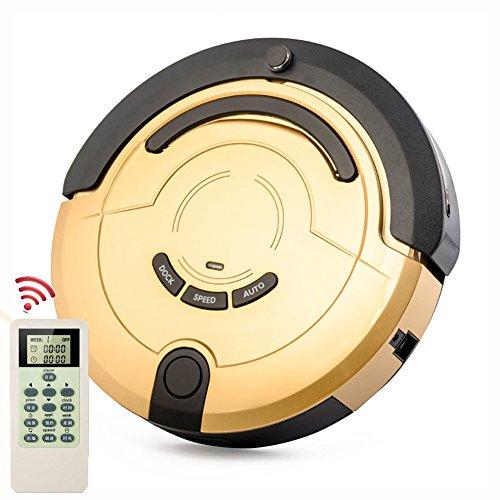 MIAO@LONG Casa Robot Aspirador Para Todos Los Tipos De Pisos Limpios Autocarga, Barredora Robot Inteligente Con Trapeador Húmedo/Seco,Gold
