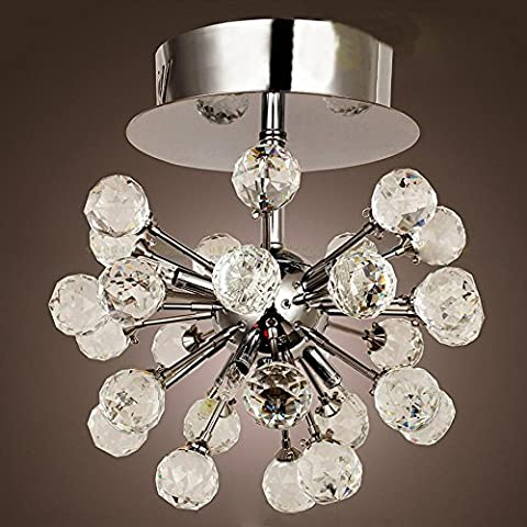 Flush Mount, Modern / Contemporary Chrome Feature pour Crystal Mini Style Metal Living Room Bedroom Hallway