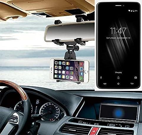 Smartphonehalterung Rückspeigelhalterung für Cubot Max, schwarz | Autohalterung Spiegel KFZ Halter - K-S-Trade (TM)