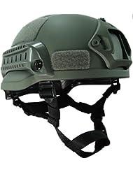 MICH 2002combatir casco protector con carril lateral y montaje NVG follaje verde FG para Airsoft táctico militar Paintball caza