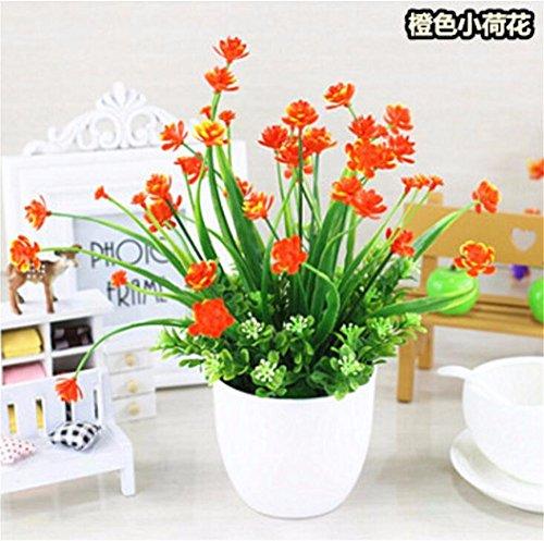 MEILI FLOWER The Orchid Green Topfpflanze Blume von Simulation Blume in Kunststoff Kit Blume von Seide Schaukel Piece Of Fake Vase von Blumen in Vase zeigt The C (Seide Blume-kit)