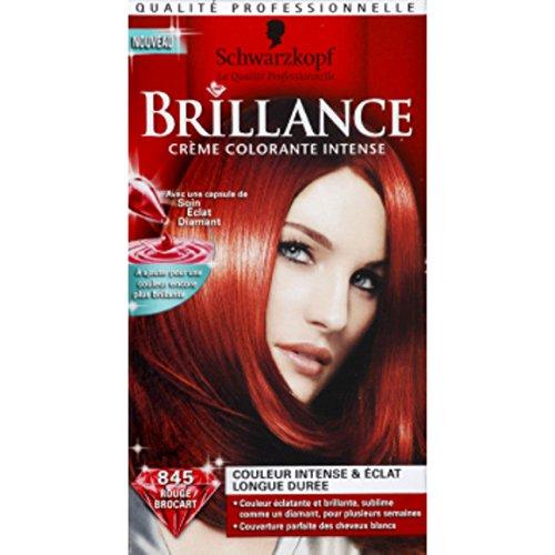 Schwarzkopf - Brillance - Rouge brocart 845, crème colorante intensive permanente - La boîte de 142,5ml - (pour la quantité plus que 1 nous vous remboursons le port supplémentaire)