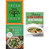 Fresh india [hardcover], vegetarian 5 2 fast diet and slow cooker vegetarian recipe book 3 books collection set