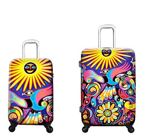PREMIUM DESIGNER Hardside Luggage set 2 pcs. - Heys Artist Limon Under the Sun Hand Luggage+ Trolley with 4 Wheels Medium 470574031&Artist&70+71