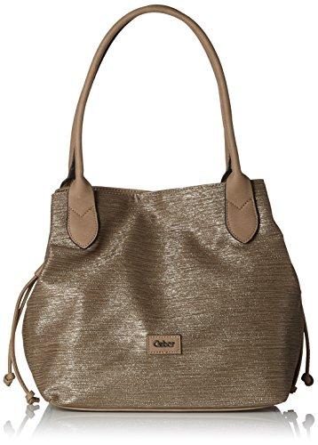 Gabor Shopper Damen Granada, Braun (Taupe), 13x29x35 cm, Tasche Damen