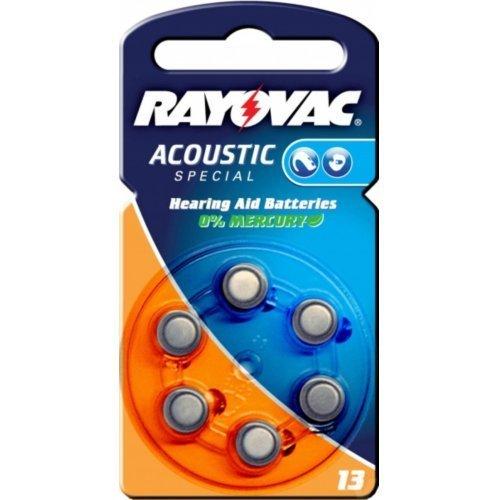 Rayovac Extra Advanced Batería para prótesis auditiva tipo/ref. 136unidades bajo blister, 1,4V, Zink-Luft [batería de prótesis auditiva]