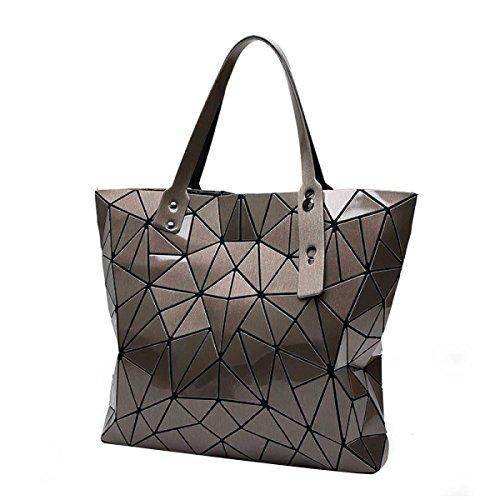 Frauen Unregelmäßige Geometrische Falttasche Mode Schulter Handtasche Brown