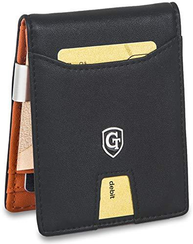 GenTo® Herren Designer-Geldbörse Berlin mit Geldklammer und Münzfach -TÜV geprüfter RFID, NFC Schutz | Design Germany …