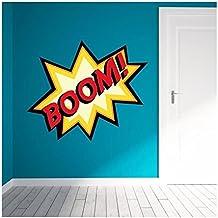 COMICS BOOM ! Stickers adhésif mural - 49x40 cm