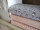 Qjutie Lottashaus Jersey no107 Stoffpaket 3 Stück 50x70cm Grau Rosa Ballerina Tänzerin Mädchen Tüll Tütü Baumwolljersey Kinder Kleidung Stoffe