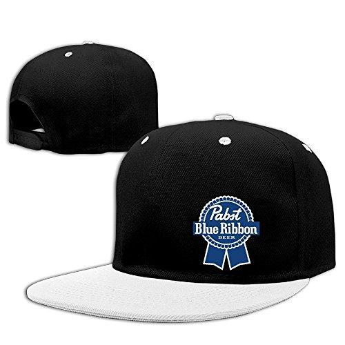 huseki-pabst-blue-ribbon-two-toned-fashion-hat-white